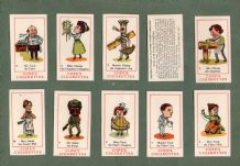 Collectable Vintage cards game  Cigarette cards Happy Families 1937
